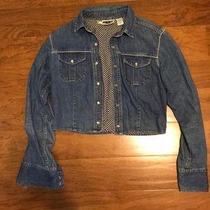 Vintage DKNY cropped jean jacket